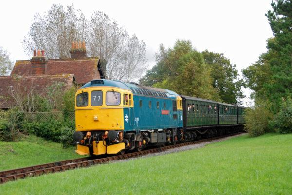 Loco Fleet Calendar 33202 'Dennis G. Robinson' Leaving Ashey, Isle Of Wight Steam Railway 30/09/17