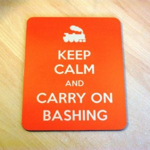 Keep Calm & Carry On Bashing Mouse Mat