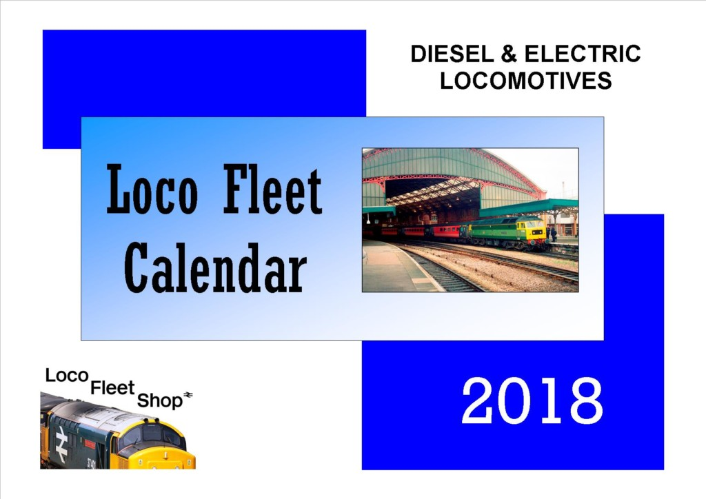 Loco Fleet 2018 Calendar Cover