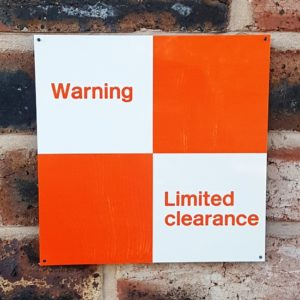 Warning Limited Clearance (Weathered Effect)