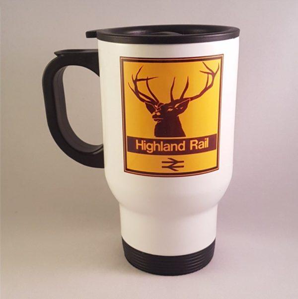 Highland Rail Stag Travel Mug