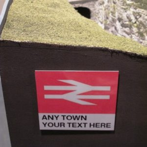 Customised Station Signs | 10x10cm