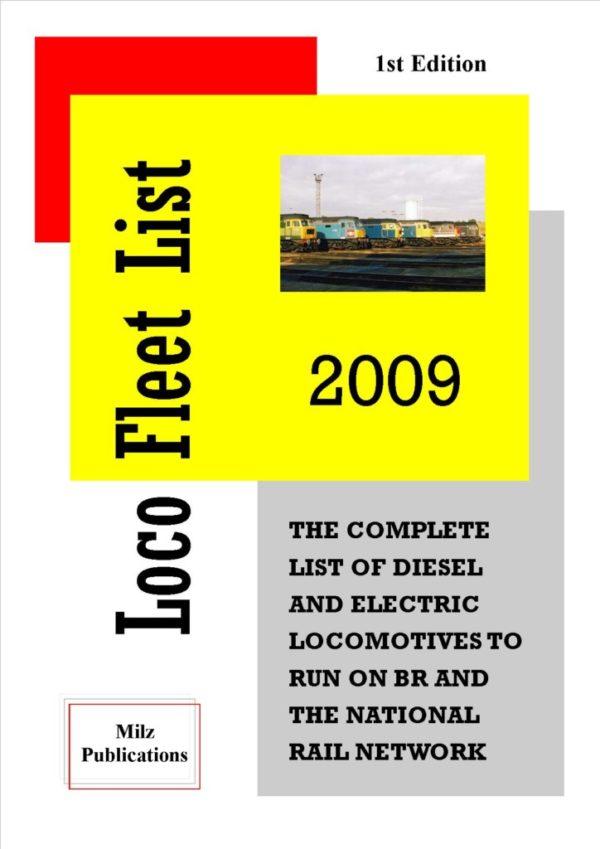 Loco Fleet List Cover 2009