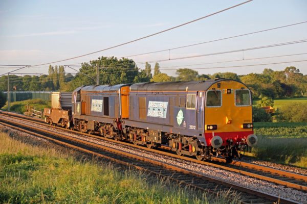 20312 & 309 Passing Redbank With A Flask Train From Sellafield, 25 06 2012 (Lee Miller)