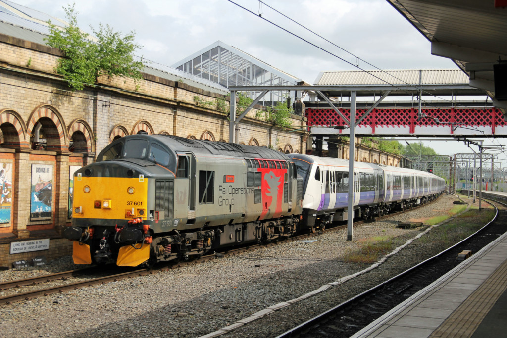 37601 Arriving Into Crewe With A Class 345 Stock Move From Old Dalby, 16 05 2018 (Lee Miller)