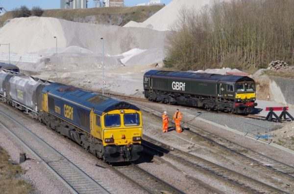 66701 Arriving Into Peak Forest With An Aggregates Train From Bletchley, 23 02 2019 (Ben Taylor)
