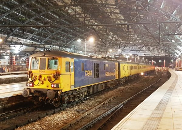 73964 & 965 Stabled In Liverpool Lime Street With A Test Train, 14 02 17 (Lee Miller)