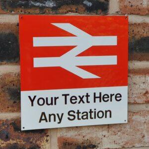 Customised Station Sign | 20x20cm