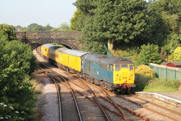 31106 Passing Through Helsby On A Track Recording Run From Crewe To Longsight, 11 07 2013 (Lee Miller)