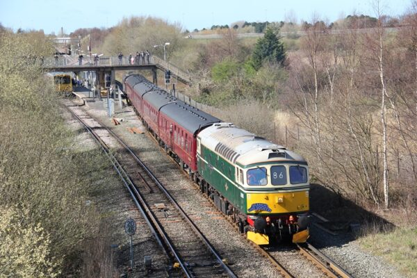 33012 Departing From Bidston With A Charter Train To Crewe 24 03 2019 (Lee Miller)