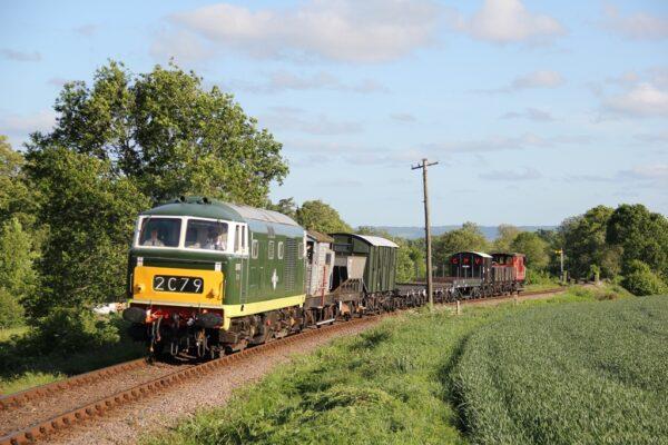 D7017 Departing From Bishops Lydeard, West Somerset Railway, 05 06 2015 (Lee Miller)