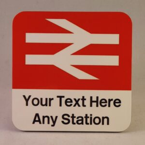 Customised Station Sign Coaster